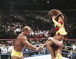 the mega powers hulk hogan macho man randy savage miss elizabeth