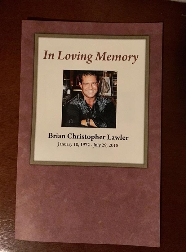 brian christopher lawler funeral