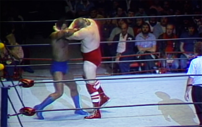 rocky johnson locks up with nikolai volkoff