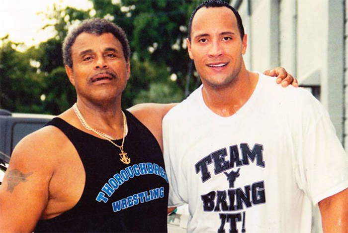 the rock dwayne johnson with his father rocky johnson